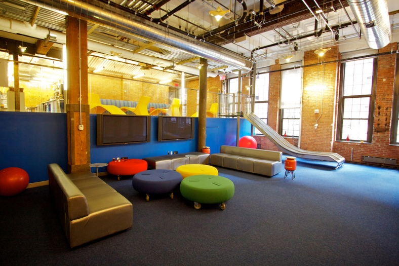 Google NYC Chelsea Market Office Slide